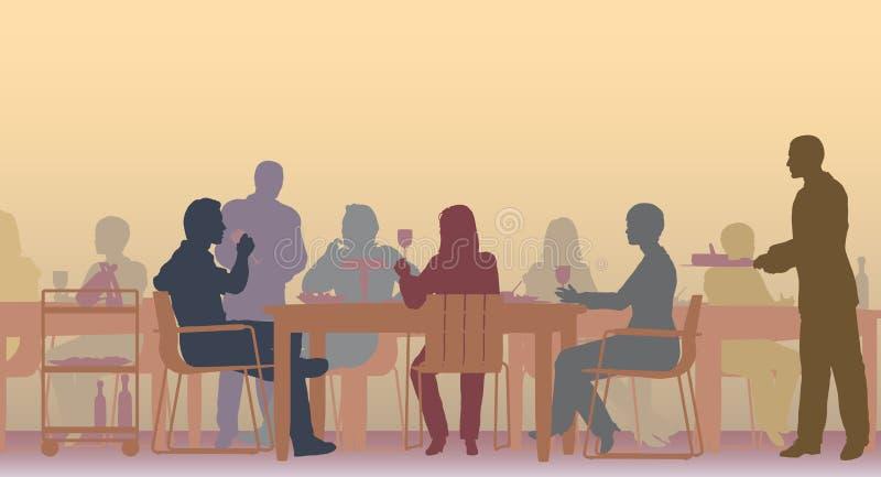 Restaurante tonificado ilustração royalty free
