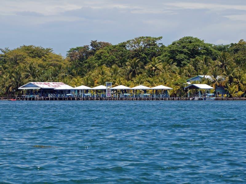 Restaurante tropical imagem de stock