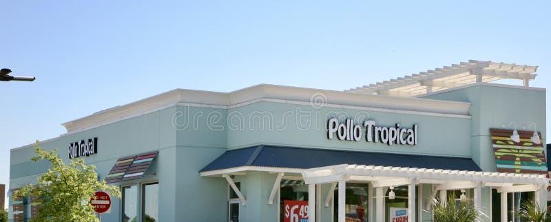 Restaurante tropical de Pollo imagens de stock royalty free