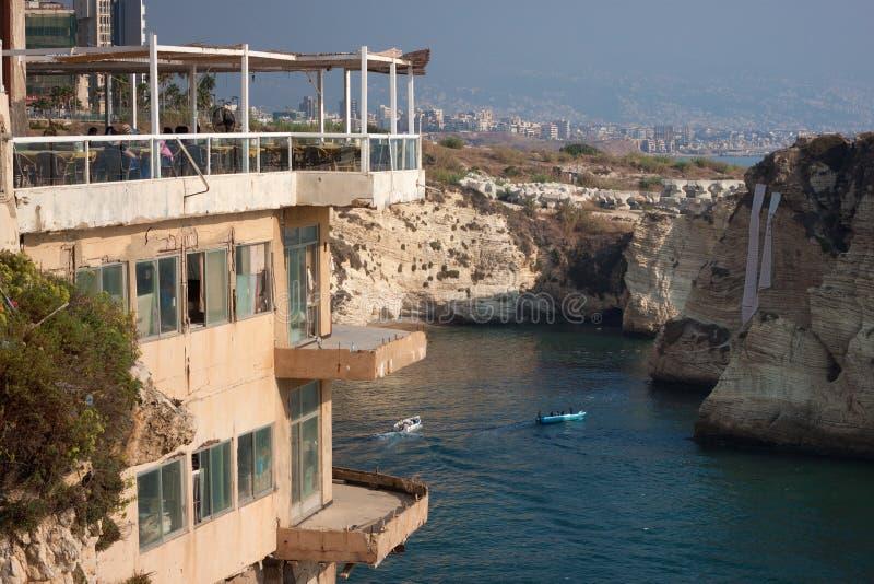 Restaurante viejo en Beirut Líbano fotos de archivo