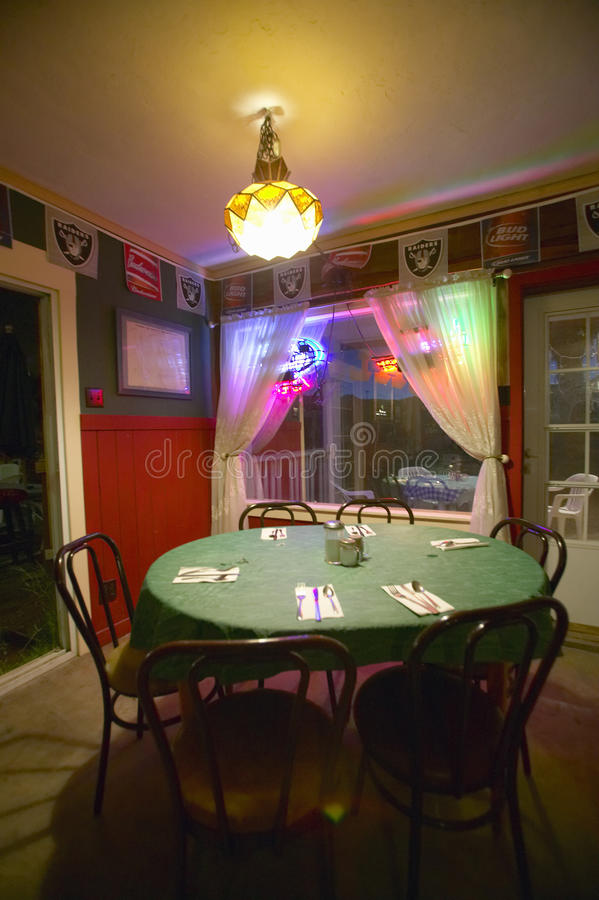 Restaurante y barra en Shoshone fotografía de archivo libre de regalías