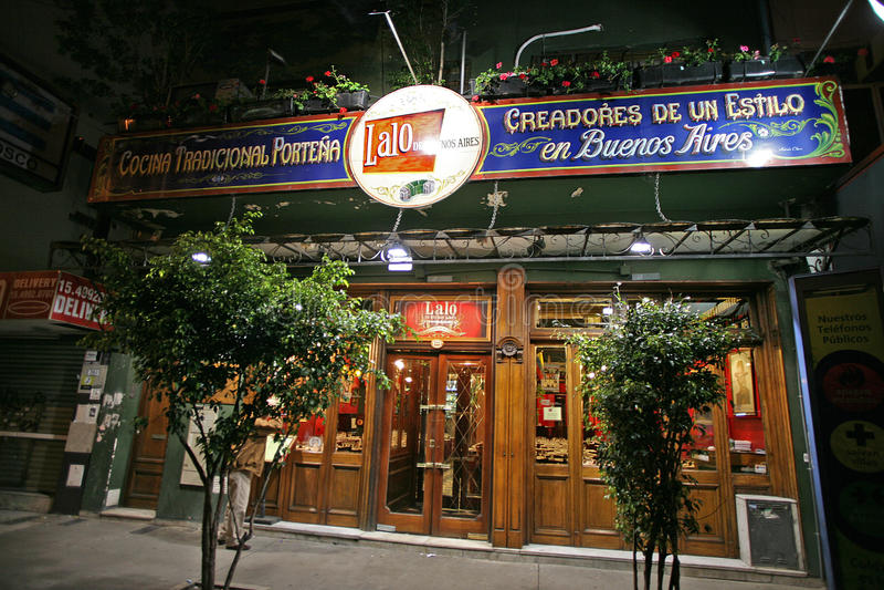 Restaurantes criativos de Argentina fotografia de stock