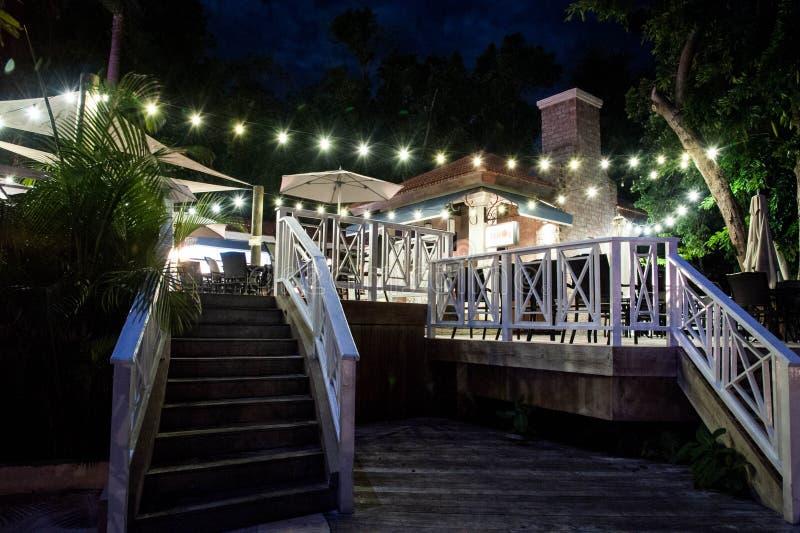 Restaurantes 2 da noite imagem de stock royalty free