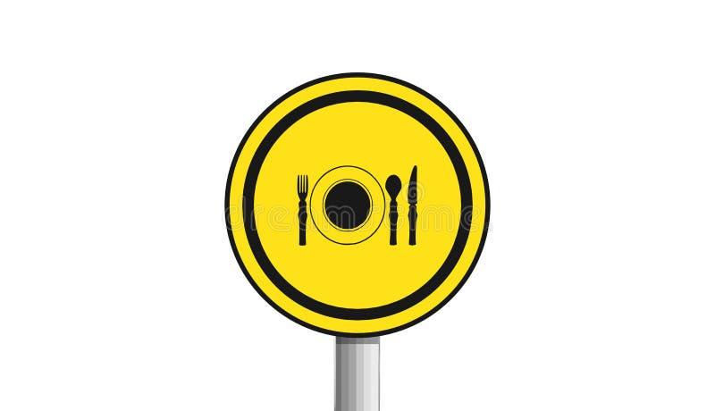 Restaurantikone, Zeichen, 3D Illustration, beste Ikone lizenzfreie abbildung