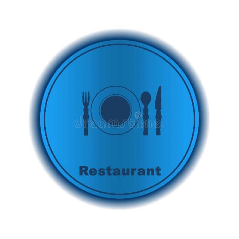 Restaurantikone, Zeichen, Illustration vektor abbildung