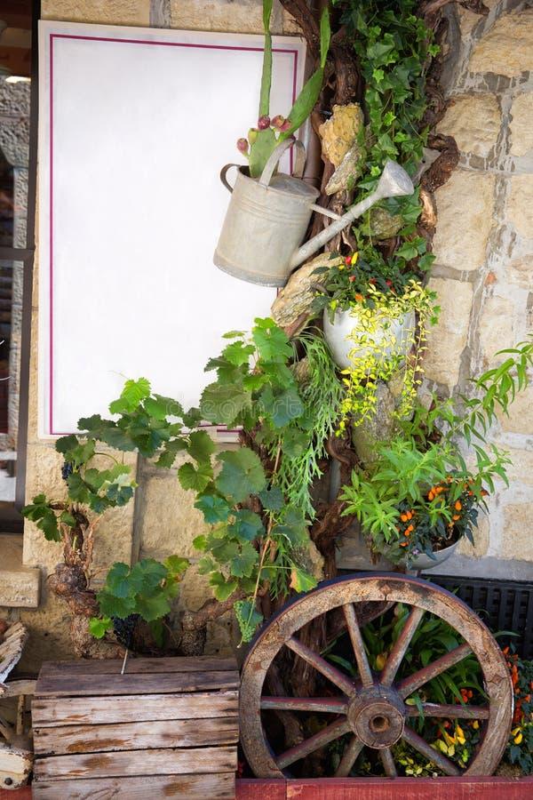 Restaurantingang stock foto's