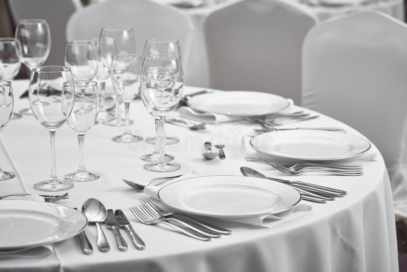Restaurantlijst setout royalty-vrije stock foto
