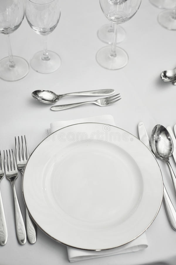 Restaurantlijst setout stock foto's