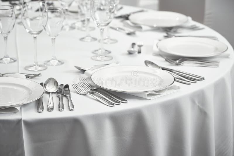 Restaurantlijst setout royalty-vrije stock afbeeldingen
