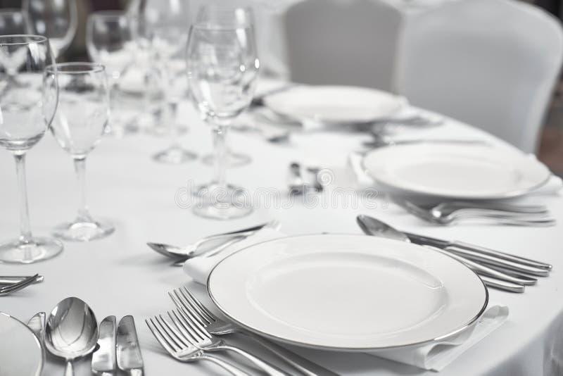 Restaurantlijst setout royalty-vrije stock foto's