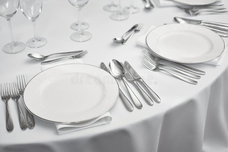 Restaurantlijst setout royalty-vrije stock fotografie