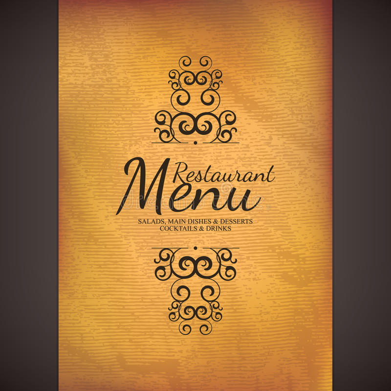 Restaurantmenüdesign vektor abbildung