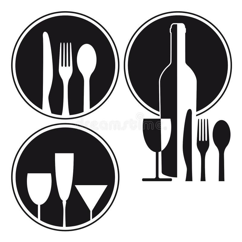 Restaurantontwerp royalty-vrije illustratie
