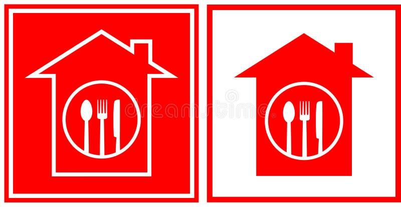 Restaurantpictogrammen met werktuig vector illustratie