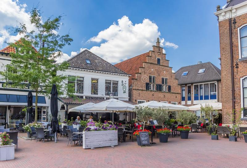 Restaurants and bars in the center of Lochem. Netherlands royalty free stock image