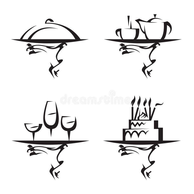 Download Restaurants icon set stock vector. Image of kitchenware - 16023461