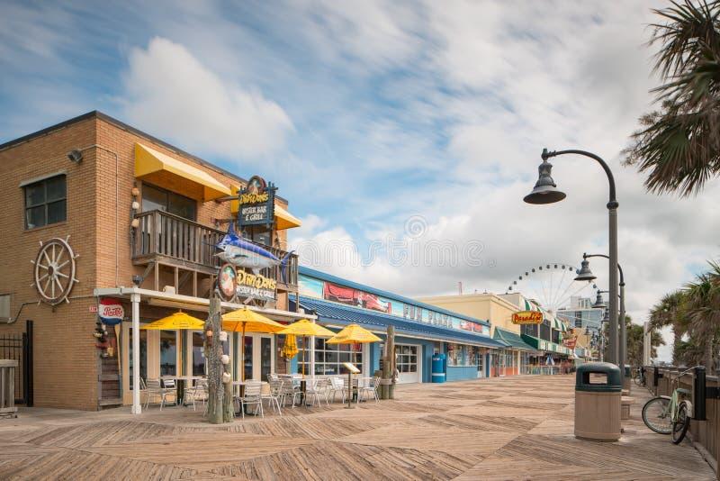 Restaurants on Myrtle Beach Boardwalk royalty free stock image