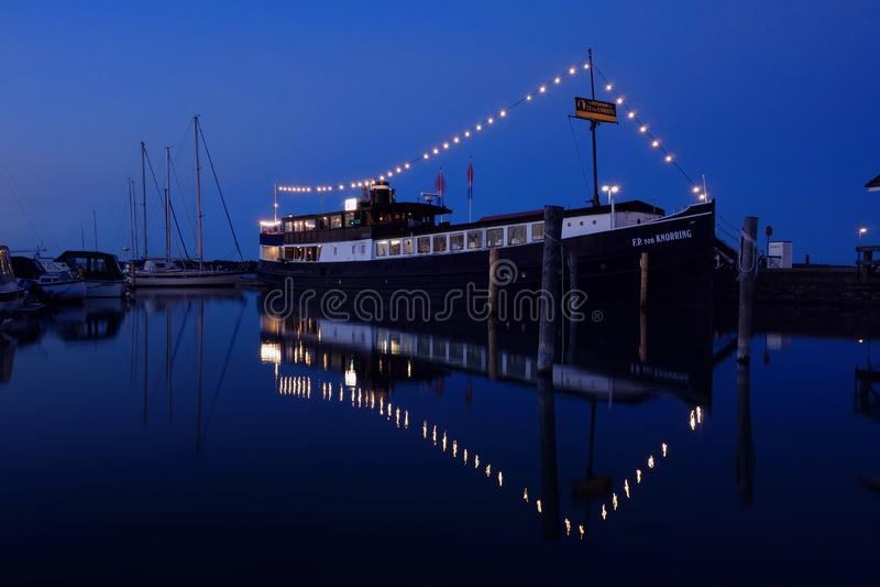 Restaurantschiff F P von Knorring im Mariehamn-Hafen stockfoto