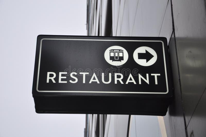 Restaurantteken royalty-vrije stock afbeelding