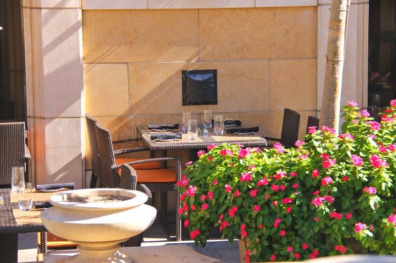 Restaurantterras stock afbeeldingen