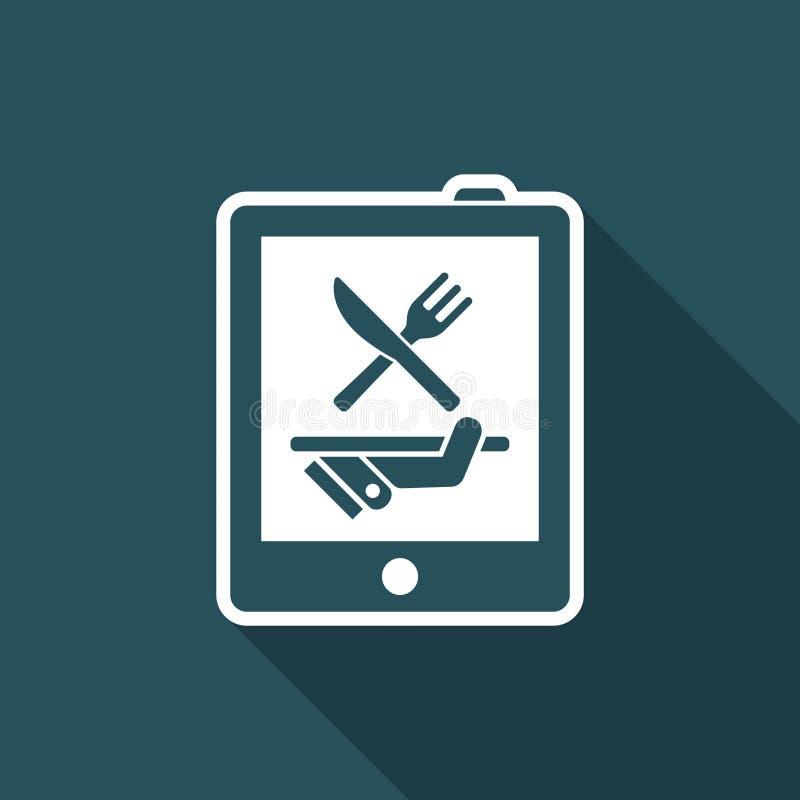 Restaurantwebsite vector illustratie