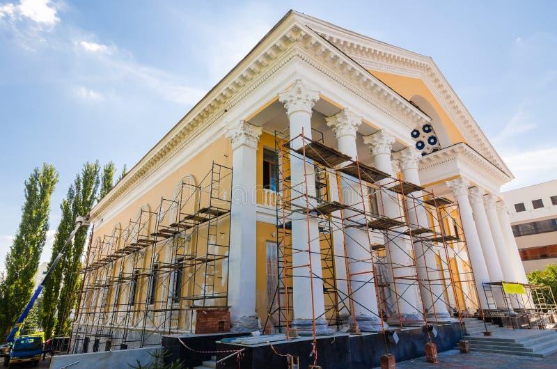 Restauratie van de oude bouw stock foto's