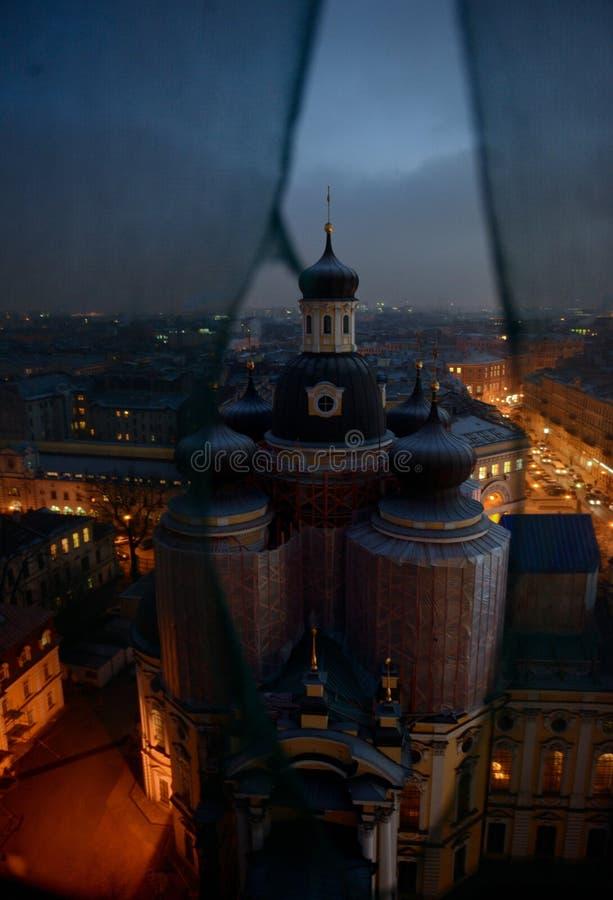 Restauration de la cathédrale de Vladimir Icon de notre Madame à St Petersburg photo stock