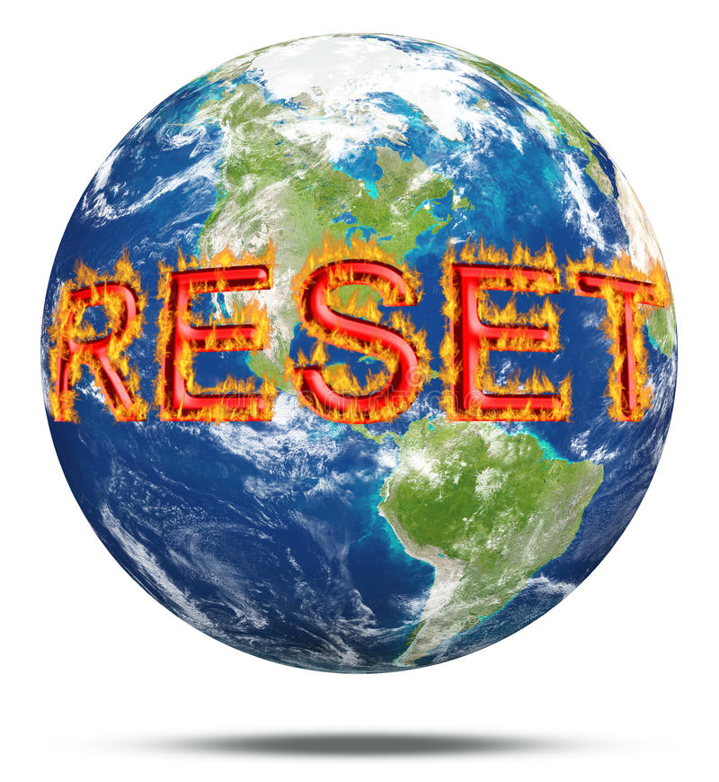 Restaure atitudes para a terra do planeta imagem de stock royalty free