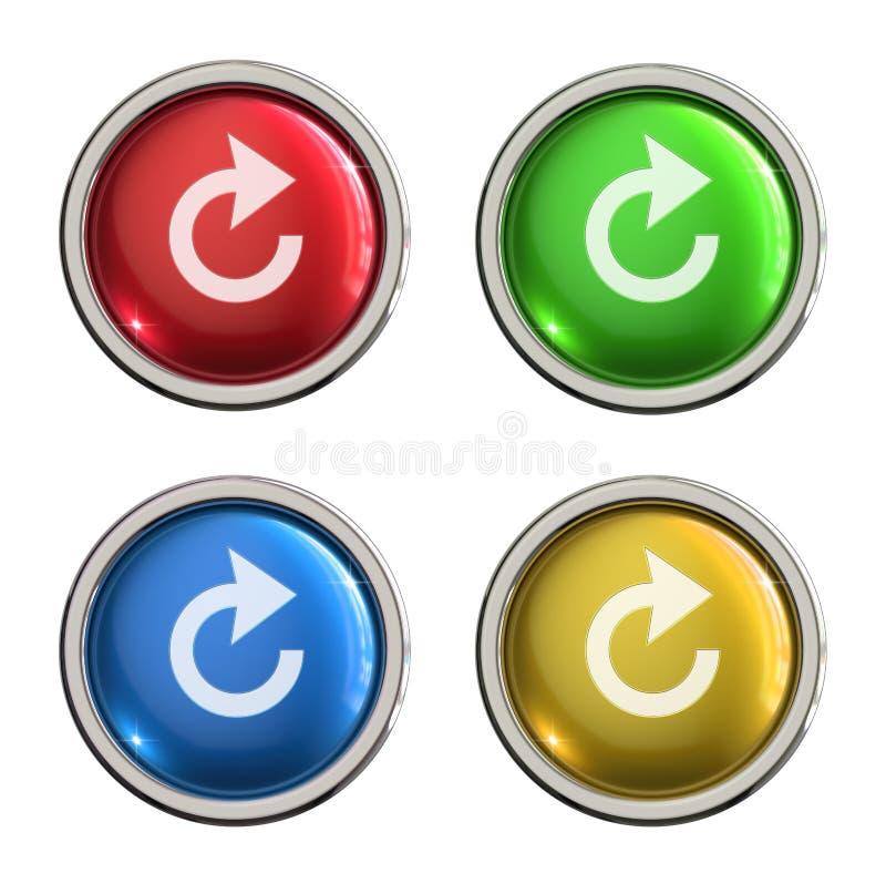Restaure el botón del vidrio del icono libre illustration
