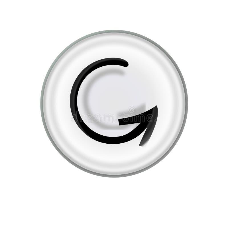 Restaure el botón, icono del recomienzo imagen de archivo libre de regalías