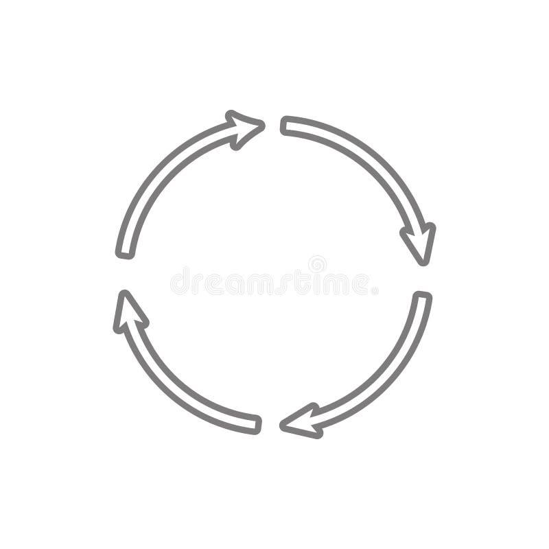 Restaure el icono Elemento de la seguridad cibernética para el concepto y el icono móviles de los apps de la web Línea fina icono libre illustration