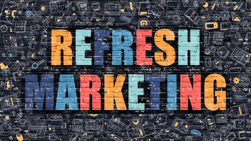 Restaure el márketing en multicolor Diseño del garabato libre illustration