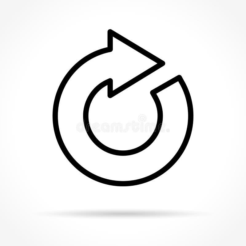 Restaure la línea fina icono stock de ilustración