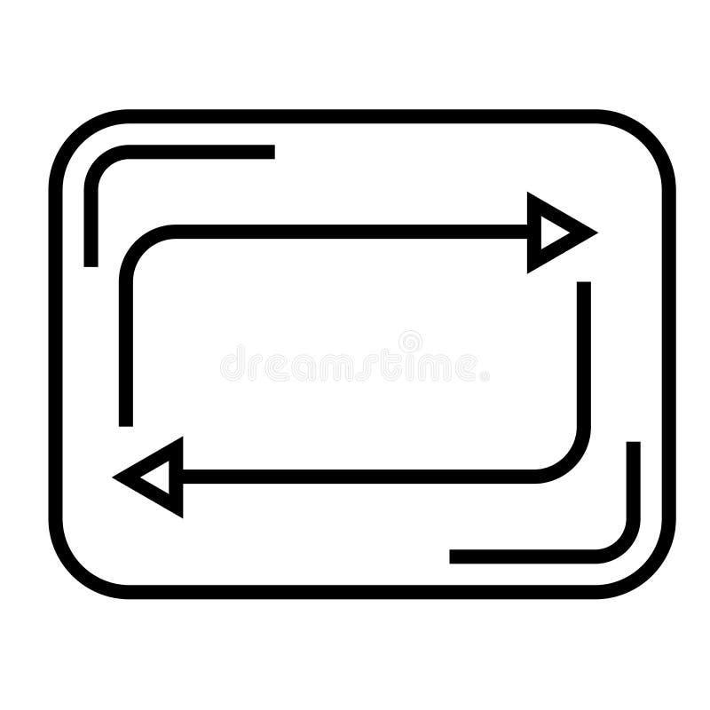 Restaure la muestra del vector del icono del botón y el símbolo aislado en el fondo blanco, restaura concepto del logotipo del bo ilustración del vector