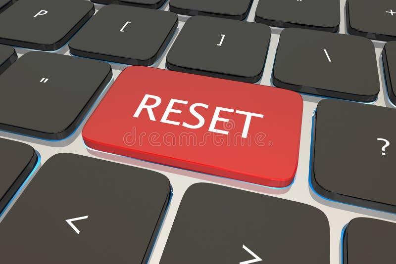 Restaure o botão da chave de teclado do computador ilustração do vetor