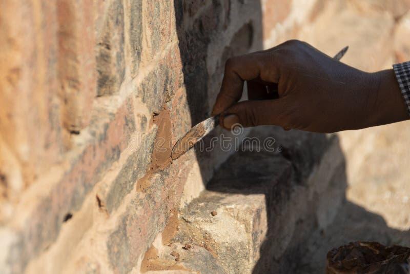 Restaurierungs- Frauenfunktion, Bagan stockfotografie