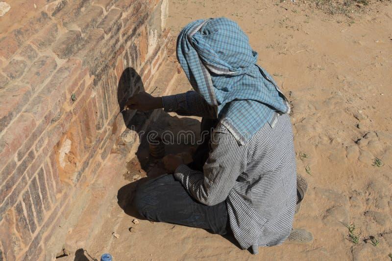 Restaurierungs- Frauenfunktion, Bagan stockfotos