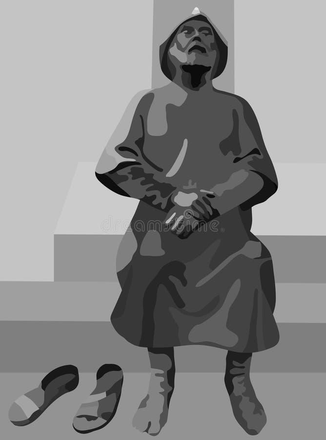 Reste d'un pèlerin - image de statue de pèlerin illustration de vecteur