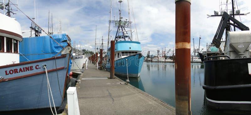 Reste de bateaux de pêche image libre de droits