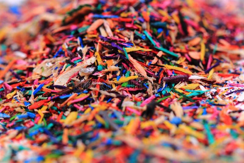 reste de crayons de couleur image libre de droits