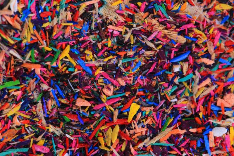 reste de crayons de couleur photos libres de droits