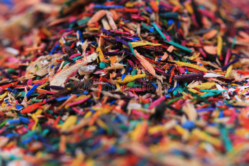reste de crayons de couleur photos stock