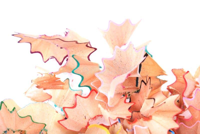 reste de crayons de couleur images stock