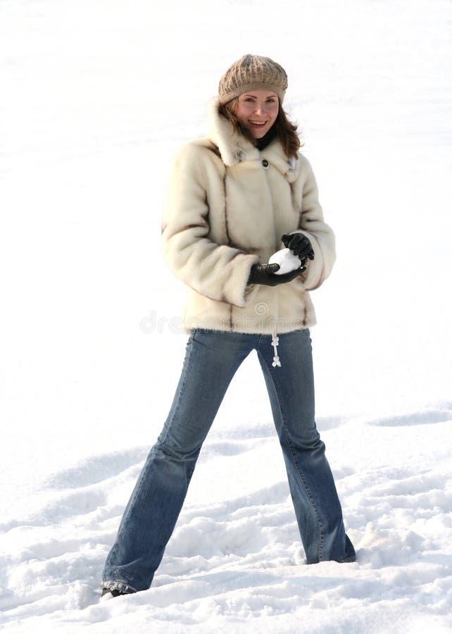 Download Reste de l'hiver image stock. Image du plaisant, fille - 744399