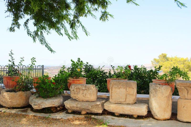 Reste l'église proche de St Stephen le premier martyre dans le monastère Beit Jamal photo libre de droits