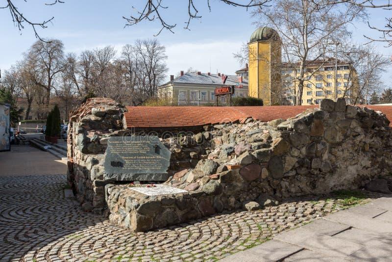 Resten van de zestiende eeuw Turkse barakken in Sofia, Bulgarije stock afbeelding