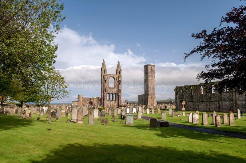 Resten van vernietigde kathedraal in St Andrew royalty-vrije stock foto's