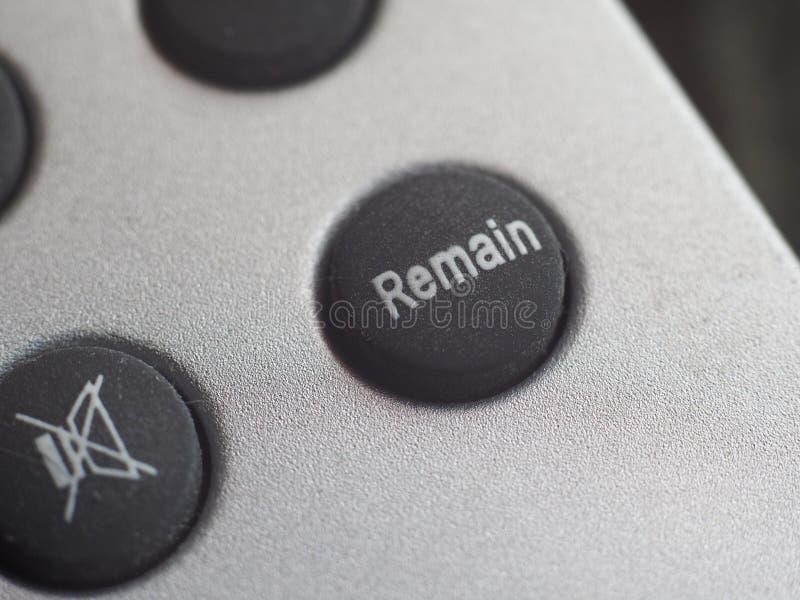 Restent le bouton (Brexit photo libre de droits