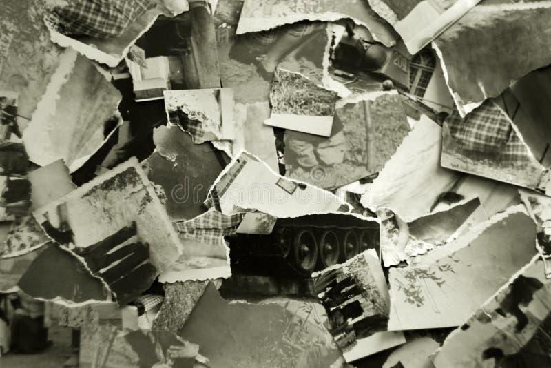 Rester av gamla foto royaltyfri bild