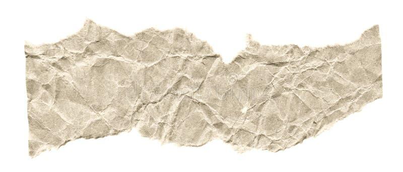 Rester av papper på en vit bakgrund Isolerat på vit Klar ram för designen, mall arkivfoto